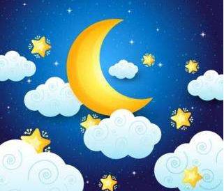 月亮钥匙_月亮药片和睡觉的小星星